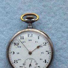 Relojes de bolsillo: RELOJ DE BOLSILLO ANTIGUO CON CAJA DE HIERRO. Lote 254613225