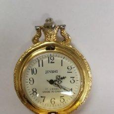 Relojes de bolsillo: PRECIOSO RELOJ DE BOLSILLO COLGANTE 17 JEWELS. FUNCIONA. Lote 254765235