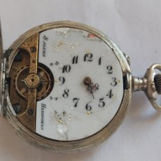 Relojes de bolsillo: HEBDOMAS 8 DÍAS CUERDA SABONETA DE PLATA. Lote 254787455
