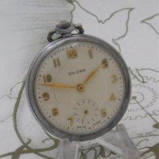 Relojes de bolsillo: SOLORA-BONITO RELOJ DE BOLSILLO-SUIZO-FUNCIONANDO. Lote 254808455