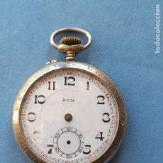 Relojes de bolsillo: RELOJ DE BOLSILLO ANTIGUO MARCA JUD. CAJA DE METAL DECORADA. Lote 254951865