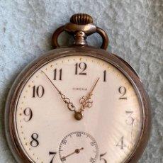 Relojes de bolsillo: RELOJ DE BOLSILLO OMEGA PLATA .800 1950. Lote 255375280
