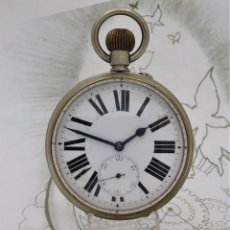 Relojes de bolsillo: GOLIAT-GRAN RELOJ DE BOLSILLO-CIRCA 1890-1910FUNCIONANDO. Lote 255415040