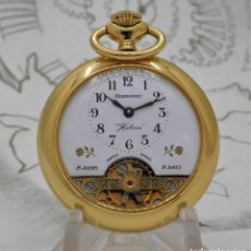 Relojes de bolsillo: HEBDOMAS-HALCÓN-FANTÁSTICO RELOJ DE BOLSILLO-8 DÍAS-FUNCIONANDO. Lote 255453380