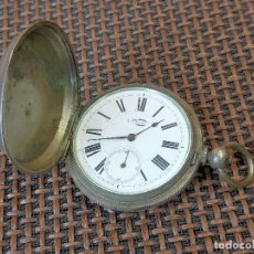 Relojes de bolsillo: RELOJ DE LLAVE ECCHAPPENMT BENTOL FLEURIBR 3 TAPAS 1 PLATA. Lote 255994705