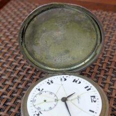 Relojes de bolsillo: SEGISA RELOJ CRISTIANO EN PLATA IMPRESIONANTE CAJA LABRADA. Lote 255998475