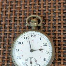 Relojes de bolsillo: RELOJ CAJA PLATA LABRADA. Lote 256004315
