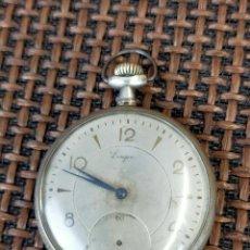 Relojes de bolsillo: LONGINES PLATA FUNCIONANDO. Lote 256009390