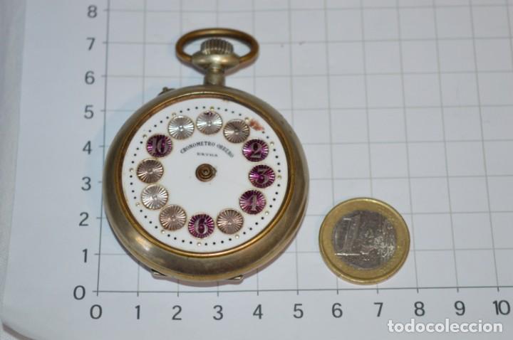 Relojes de bolsillo: Vintage / CRONÓMETRO OBRERO / Caja de 52,30 mm / Esfera de porcelana / Carga manual ¡Mira funciona! - Foto 2 - 256155575