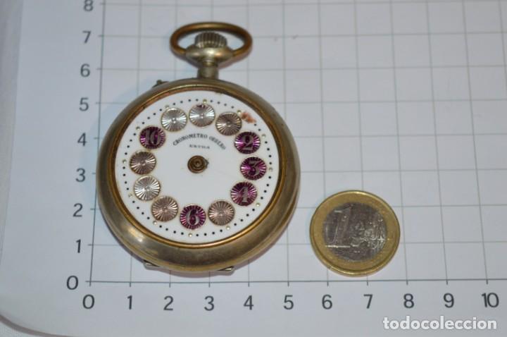 Relojes de bolsillo: Vintage / CRONÓMETRO OBRERO / Caja de 52,30 mm / Esfera de porcelana / Carga manual ¡Mira funciona! - Foto 3 - 256155575