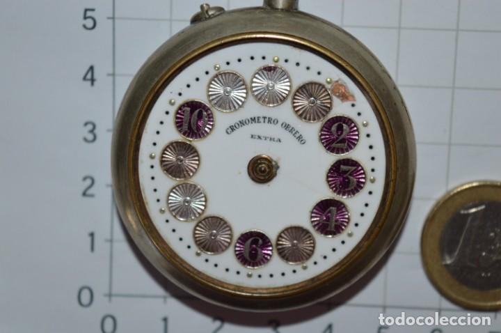 Relojes de bolsillo: Vintage / CRONÓMETRO OBRERO / Caja de 52,30 mm / Esfera de porcelana / Carga manual ¡Mira funciona! - Foto 5 - 256155575
