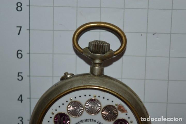 Relojes de bolsillo: Vintage / CRONÓMETRO OBRERO / Caja de 52,30 mm / Esfera de porcelana / Carga manual ¡Mira funciona! - Foto 6 - 256155575