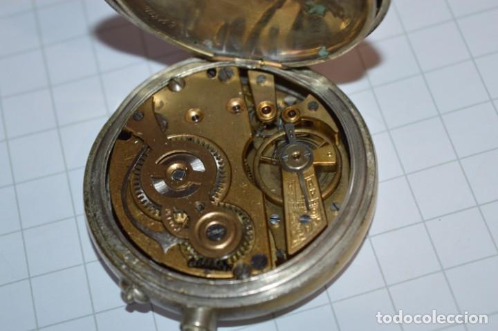 Relojes de bolsillo: Vintage / CRONÓMETRO OBRERO / Caja de 52,30 mm / Esfera de porcelana / Carga manual ¡Mira funciona! - Foto 11 - 256155575