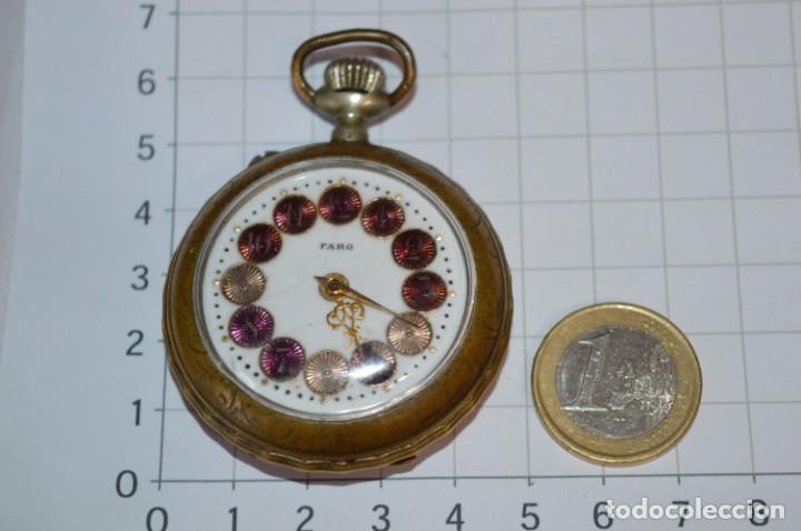 VINTAGE / FARO / CAJA DE 47,40 MM / ESFERA DE PORCELANA/ESMALTE / CARGA MANUAL ¡MIRA FUNCIONA! (Relojes - Bolsillo Carga Manual)