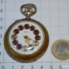 Relojes de bolsillo: VINTAGE / FARO / CAJA DE 47,40 MM / ESFERA DE PORCELANA/ESMALTE / CARGA MANUAL ¡MIRA FUNCIONA!. Lote 256159455
