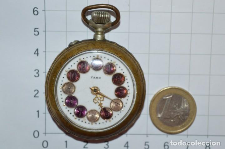 Relojes de bolsillo: Vintage / FARO / Caja de 47,40 mm / Esfera de porcelana/esmalte / Carga manual ¡Mira funciona! - Foto 2 - 256159455