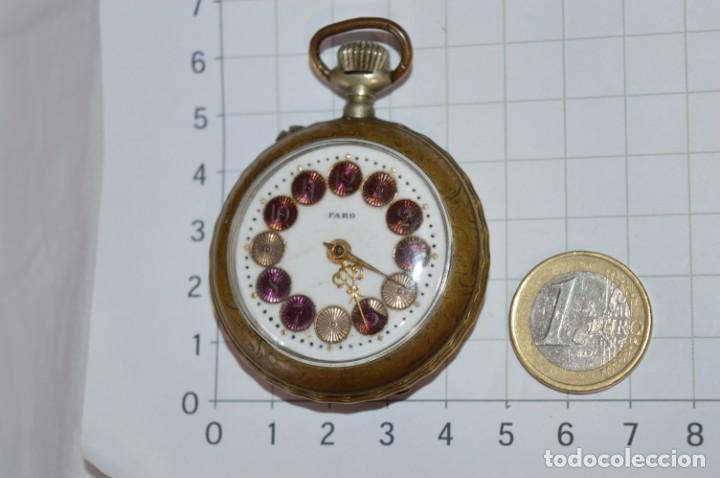 Relojes de bolsillo: Vintage / FARO / Caja de 47,40 mm / Esfera de porcelana/esmalte / Carga manual ¡Mira funciona! - Foto 3 - 256159455