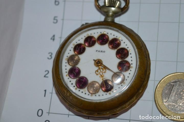 Relojes de bolsillo: Vintage / FARO / Caja de 47,40 mm / Esfera de porcelana/esmalte / Carga manual ¡Mira funciona! - Foto 4 - 256159455