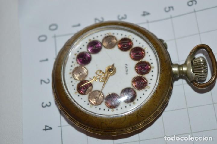 Relojes de bolsillo: Vintage / FARO / Caja de 47,40 mm / Esfera de porcelana/esmalte / Carga manual ¡Mira funciona! - Foto 5 - 256159455
