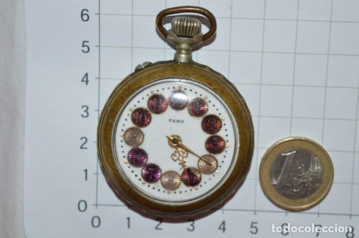 Relojes de bolsillo: Vintage / FARO / Caja de 47,40 mm / Esfera de porcelana/esmalte / Carga manual ¡Mira funciona! - Foto 6 - 256159455