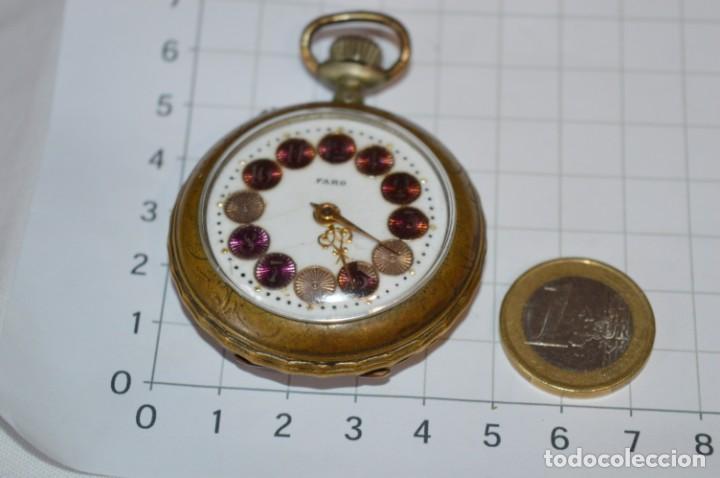 Relojes de bolsillo: Vintage / FARO / Caja de 47,40 mm / Esfera de porcelana/esmalte / Carga manual ¡Mira funciona! - Foto 7 - 256159455
