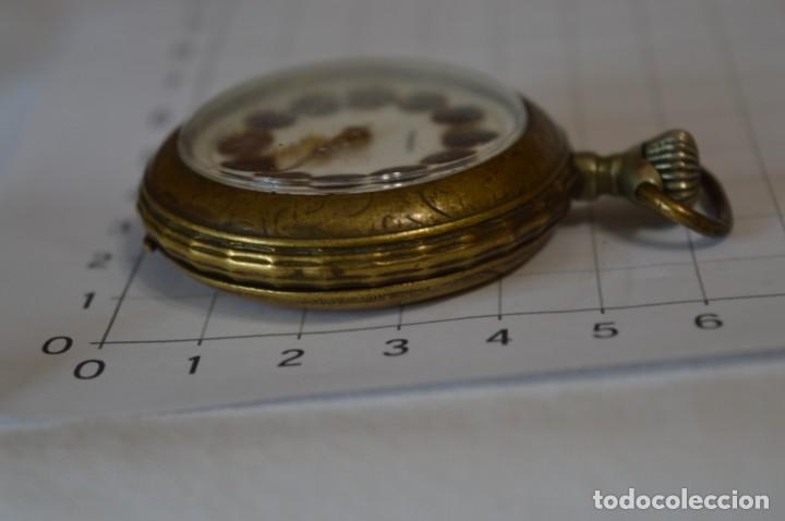 Relojes de bolsillo: Vintage / FARO / Caja de 47,40 mm / Esfera de porcelana/esmalte / Carga manual ¡Mira funciona! - Foto 10 - 256159455