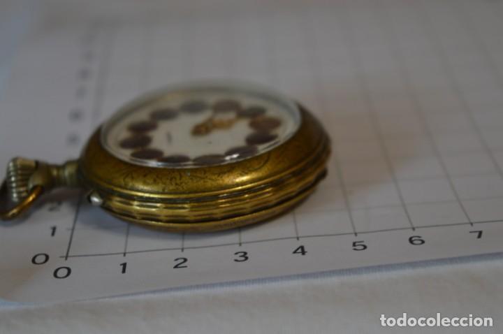 Relojes de bolsillo: Vintage / FARO / Caja de 47,40 mm / Esfera de porcelana/esmalte / Carga manual ¡Mira funciona! - Foto 12 - 256159455