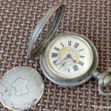 Relojes de bolsillo: GOMEZ Y HERMANO CARTAGENA CAJA 4 TAPAS PLATA DECORACION EN ORO. Lote 257276140