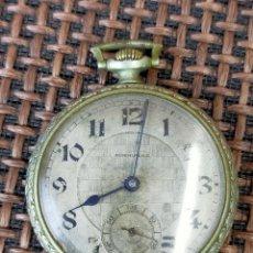 Relojes de bolsillo: RELOJ BOLSILLO CAJA PLATA ADMIRABLE. Lote 257276825