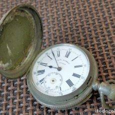 Relojes de bolsillo: RELOJ BOLSILLO PAUL JEANNOT 4 TAPAS CAJA PLATA. Lote 257278890