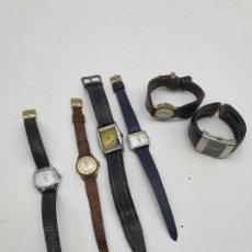 Relojes de bolsillo: LOTE RELOJES MUJER, CORREA PIEL, VÁRIOS MODELOS ( VER FOTOS Y DESCRIPCIÓN ). Lote 257405490