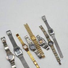 Relojes de bolsillo: LOTE RELOJES MUJER , CORREA EN METAL, VÁRIOS MODELOS ( VER FOTOS Y DESCRIPCIÓN ). Lote 257406275