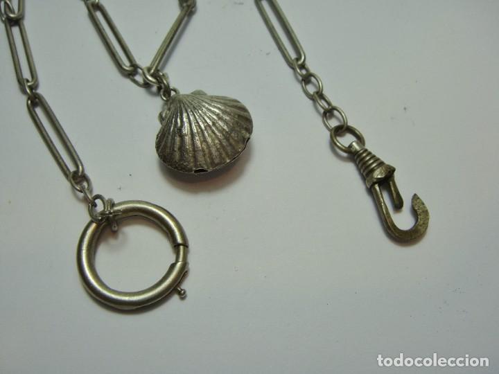 Relojes de bolsillo: Leontina o cadena para reloj de bolsillo antiguo. - Foto 2 - 257623825