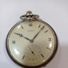 Relojes de bolsillo: RELOJ BOLSILLO CYMA PLATA. Lote 257652215
