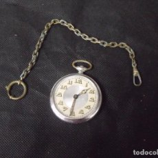 Relojes de bolsillo: ANTIGUO RELOJ BOLSILLO ART-DECO CON LEONTINA-AÑO 1920-LOTE 259-20. Lote 257774715