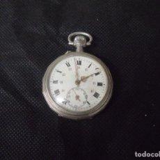 Relojes de bolsillo: ANTIGUO RELOJ BOLSILLO EN ARGENTAN AÑO 1890-LOTE 259-20. Lote 257775015
