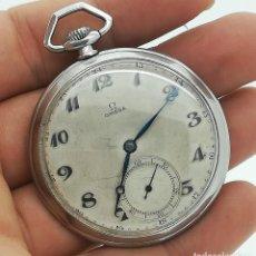 Relojes de bolsillo: RELOJ DE BOLSILLO OMEGA VINTAGE CAL. 38,5 L-T1 ACERO DE 1934 SEGUNDA MANO. Lote 257877720