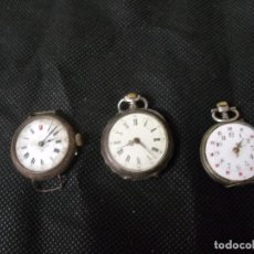 Relojes de bolsillo: ¡¡GRAN OFERTA !!!!3 ANTIGUOS RELOJES DE BOLSILLO-2 EN PLATA- LOTE 259-20. Lote 257980735