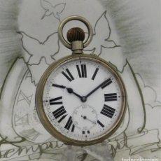 Relojes de bolsillo: GRAN RELOJ DE BOLSILLO-GOLIAT-FERROVIARIO-CIRCA 1880-1890-FUNCIONANDO. Lote 258092860