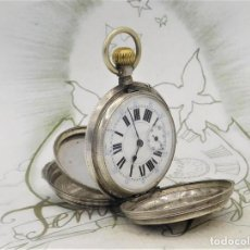 Relojes de bolsillo: GENEVE-RELOJ DE BOLSILLO-DE PLATA-SABONETA-SUIZO-CIRCA 1880-1890-FUNCIONANDO. Lote 258103135