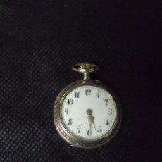 Relojes de bolsillo: ANTIGUO RELOJ BOLSILLO EN PLATA PUNZONADA AÑO 1880 -- LOTE 259-23. Lote 258844125
