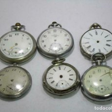 Relojes de bolsillo: 6 ANTIGUOS RELOJES DE BOLSILLO LORE, A REPARAR ALGUNO EN PLATA. Lote 259716270