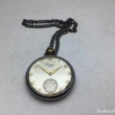 Relojes de bolsillo: RELOJ DE BOLSILLO CARGA MANUAL MARCA RAMSO - FUNCIONA. Lote 260025630