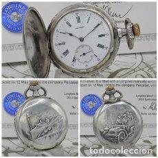 Relojes de bolsillo: LONGINES-RELOJ DE BOLSILLO-CON CERTIFICADO-SABONETA-CIRCA 1906-FUNCIONANDO. Lote 260412305