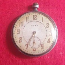 Relógios de bolso: RELOJ CYMA DE BOLSILLO CAJA DE PLATA FUNCIONA .MIDE 47.4 MM DIAMETRO. Lote 260511295