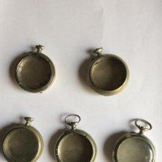 Relógios de bolso: 5 CAJAS DE RELOJ DE BOLSILLO CUERVO Y SOBRINOS HABANA DIAM. 46 MM. Lote 260517510
