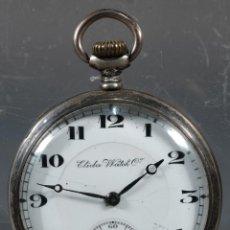 Relojes de bolsillo: RELOJ DE BOLSILLO ELIDA WATCH EN PLATA-EN FUNCIONAMIENTO. Lote 260754830