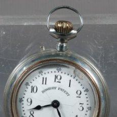 Relojes de bolsillo: RELOJ DE BOLSILLO ROSKOPF EN METAL PLATEADO-EN FUNCIONAMIENTO. Lote 260755000