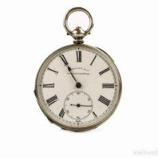 Relojes de bolsillo: MATTOCKS & CO- RELOJ DE BOLSILLO CAJA DE PLATA- ESFERA DE PORCELANA -NÚMEROS ROMANOS-FINALES S.XIX. Lote 261260840