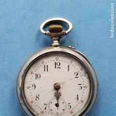 Relojes de bolsillo: RELOJ DE BOLSILLO ANTIGUO. CAJA DE PLATA DECORADA. Lote 261519220